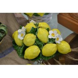 Composizione da Tavolo Ovale Limoni e Fiori