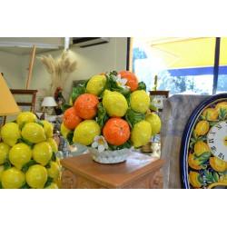 Cesto Tondo Arance, Limoni e Fiori