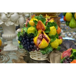 Cesto Tondo Melograno e Frutta Assortita