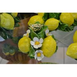 Porta Candela Tondo Limoni e FIori