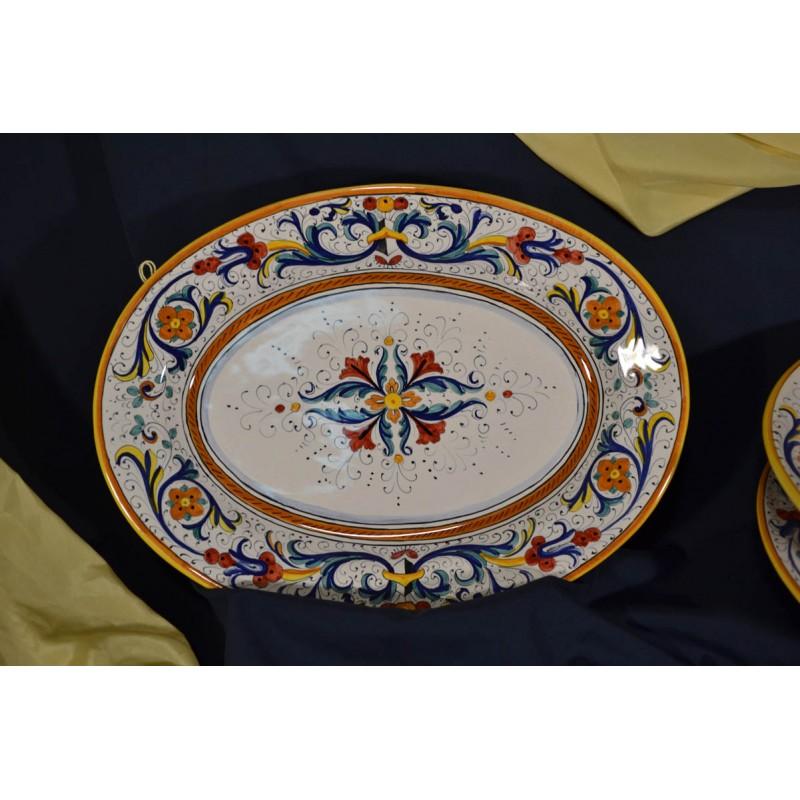 Vassoio da portata ovale ricco deruta colori lusso pietra - Vassoio da portata ...