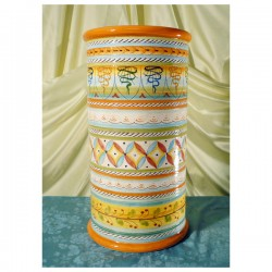 Umbrella Stand Graffito White Geometric