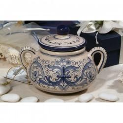 Sugar Bowl Big with Handles Ricco Deruta Blue