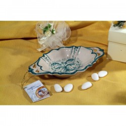 Small Bowl Oval SIM with Handles Ricco Deruta Green