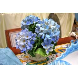 Basket Hydrangeas Blue