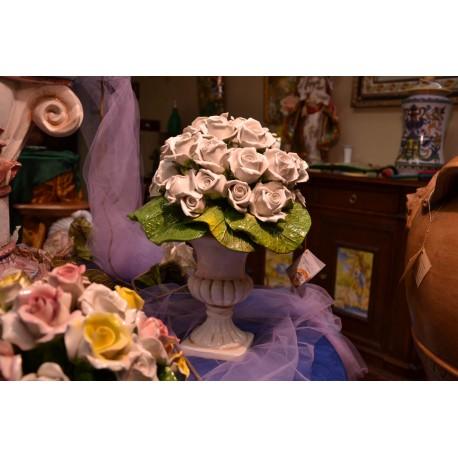 Alzata Rose Bianche