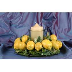 Centerpiece Round Candleholder Lemons
