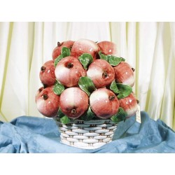 Round Basket Red Apples