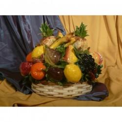 Cesto Ovale Frutta Assortita e Ananas