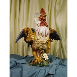 Fighter Rooster Decorated Patinated