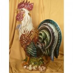 Gallo Grande Decorato Patinato