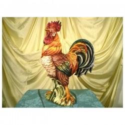 Gallo  Decorato Patinato Grosso