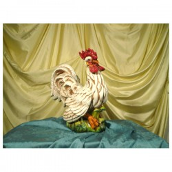 Rooster White Patinated