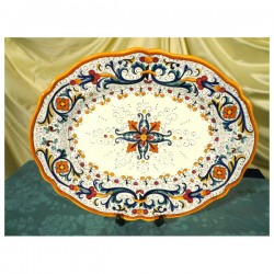 Oval Tray Ricco Deruta Colors Luxury SIM