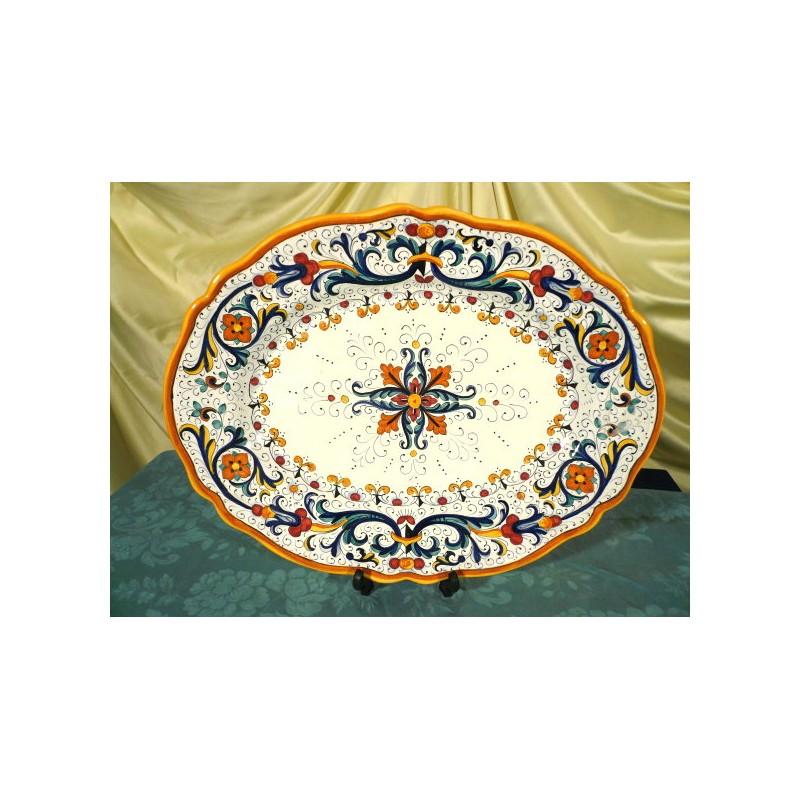 Vassoio da portata ovale ricco deruta colori lusso sim - Vassoio da portata ...