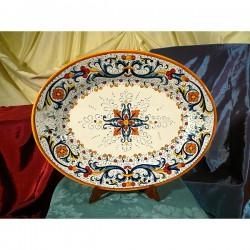 Oval Tray Ricco Deruta Colors Luxury