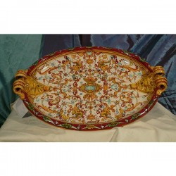 Oval Tray Centerpiece Grotesque