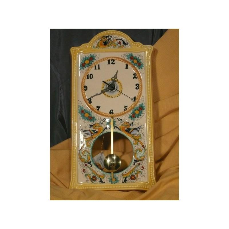 Orologio a pendolo da parete rettangolare classico pietra for Idee per orologio da parete