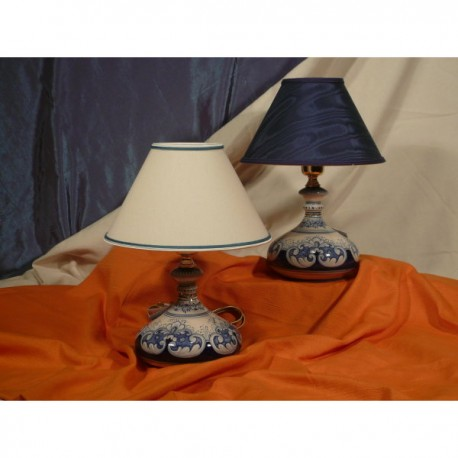 Lamp Onion Ornate Blue Stone