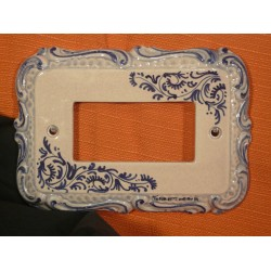 Plate 3 Switches Vimar Idea Baroque Insalatina Blue