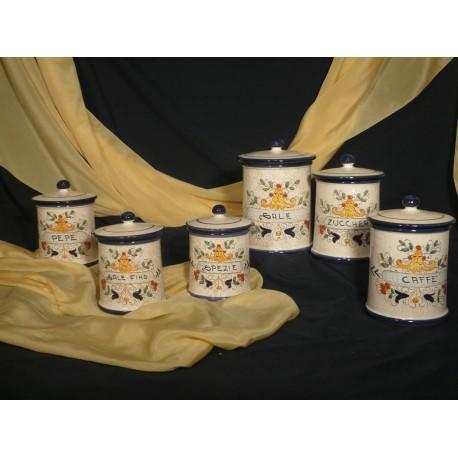 Kitchen Jars Set Graffito Ricco Deruta Colors