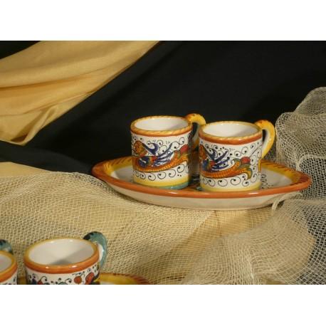 Set Caffè x 2 con Vassoietto Ovale