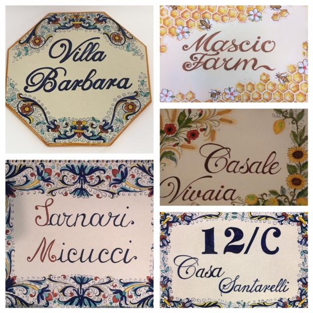 Numeri Civici In Ceramica.Numeri Civici In Ceramica Deruta Megastore Ceramiche
