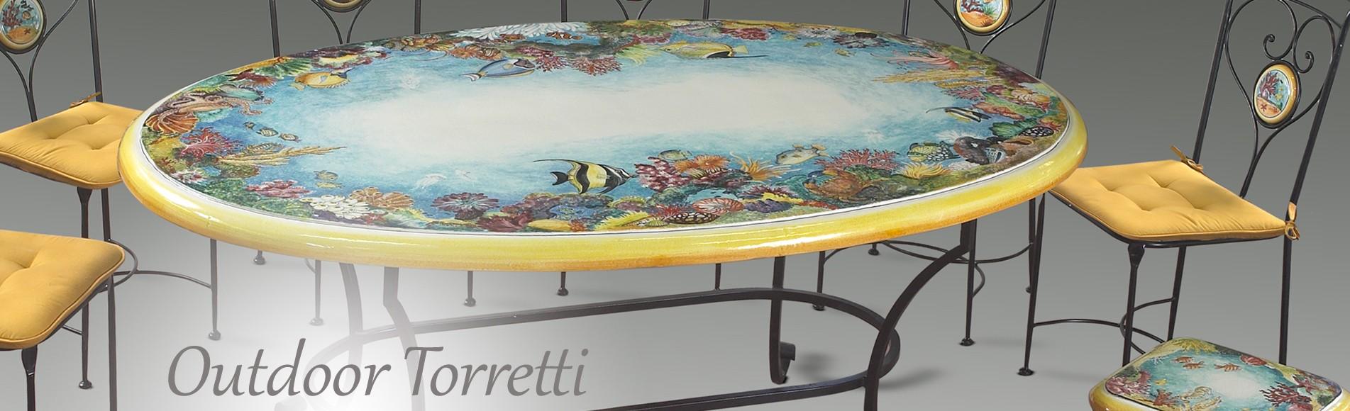 Tavoli Da Giardino Ceramica Caltagirone.Deruta Megastore Ceramiche Torretti Ceramics Deruta